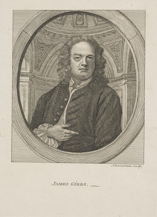 James Gibbs, 1682 - 1754. Architect (Published 1762)