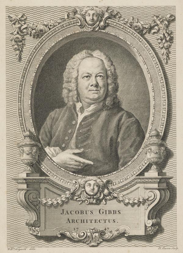 James Gibbs, 1682 - 1754. Architect (Published 1747)