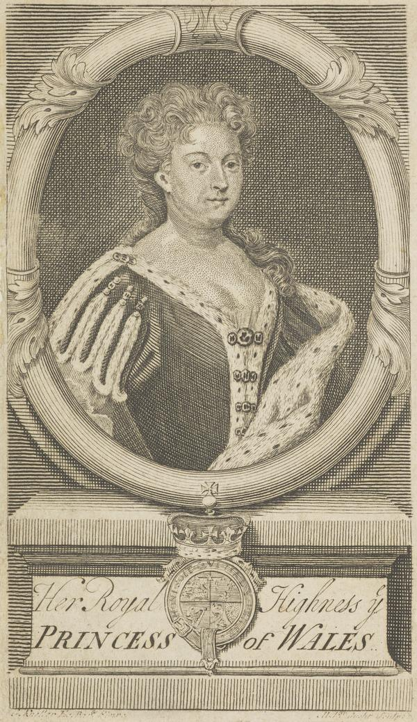 Queen Caroline of Brandenburg-Anspach, 1683 - 1737. Consort of George II