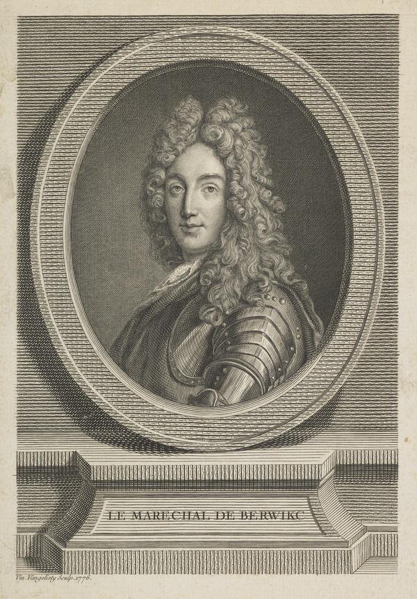 James Fitzjames, Duke of Berwick, 1670 - 1734. Natural son of James II by Arabella Churchill; Marshall of France
