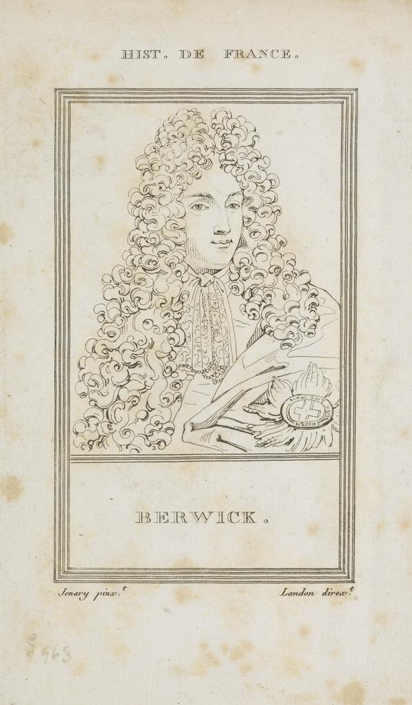 James Fitzjames, Duke of Berwick, 1670 - 1734. Natural son of James II by Arabella Churchill; Marshall of France