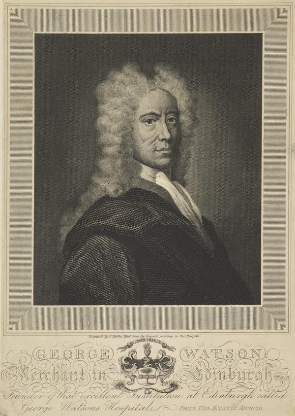 George Watson, 1653 - 1723. Founder of Watson's Hospital