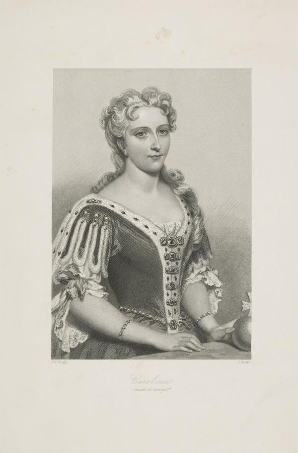 Queen Caroline of Brandenburg-Anspach, 1683 - 1737. Consort of George II