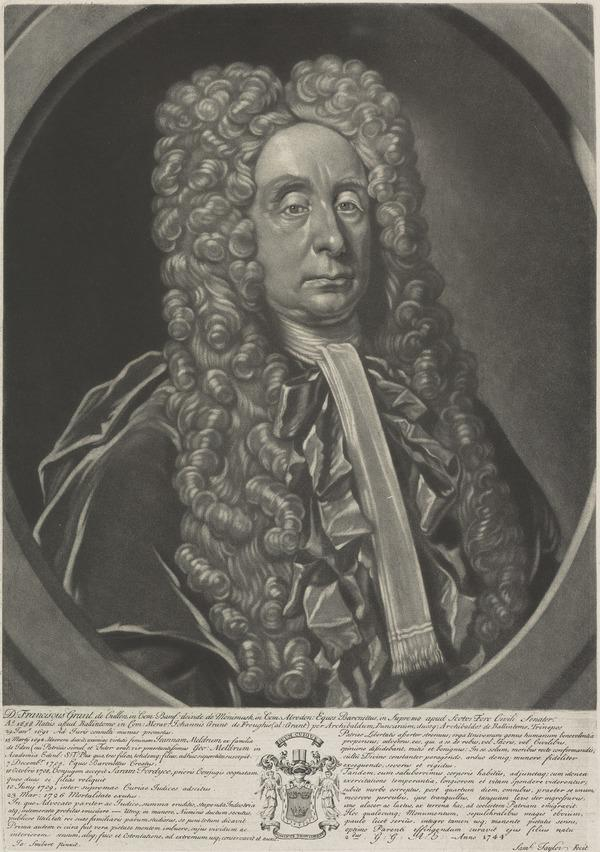 Sir Francis Grant, Lord Cullen, 1658 - 1726. Scottish judge