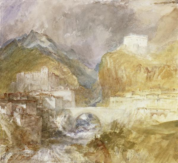 Vèrres in the Val d'Aosta (About 1840)
