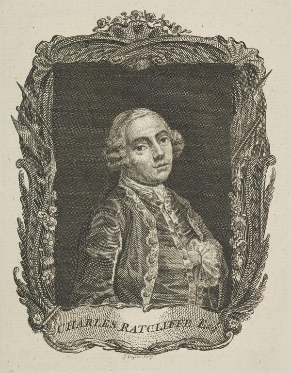 The Honourable Charles Radcliffe, 1693 - 1746. Son of the 2nd Earl of Derwentwater; Jacobite, executed for treason