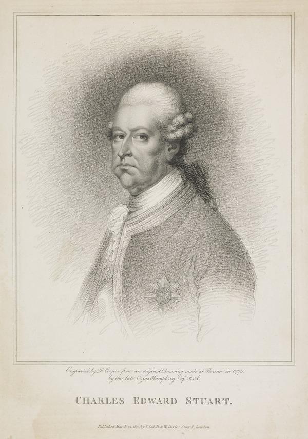 Prince Charles Edward Stuart, 1720 - 1788. Eldest son of Prince James Francis Edward Stuart (Published 1815)