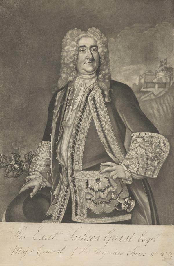 General Joshua Guest, 1660 - 1747. Defender of Edinburgh Castle 1745