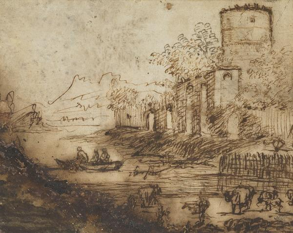 Landscape With Water and a Tower