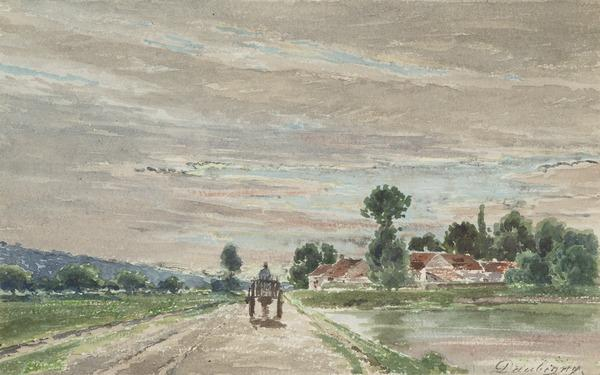 Evening Landscape with Horse and Cart