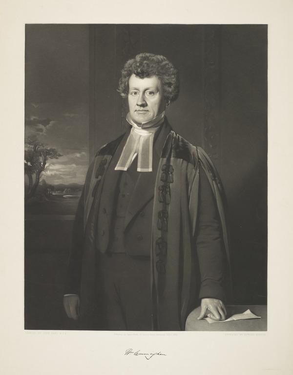 Rev. William Cunningham, 1805 - 1861. Theologian