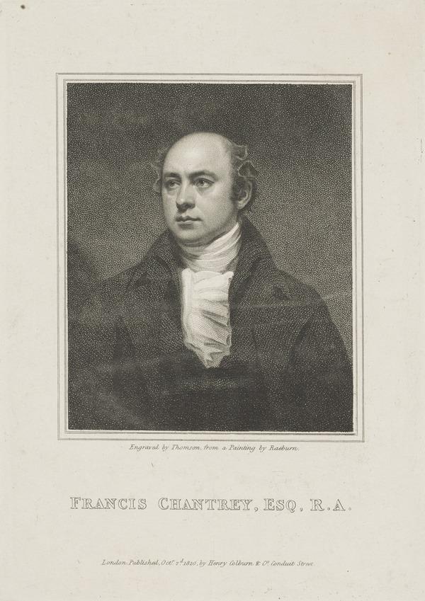 Sir Francis Legatt Chantrey, 1781 - 1842. Sculptor (Published 1820)