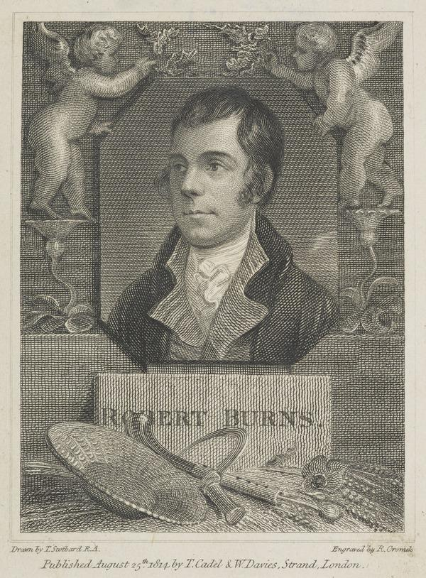 Robert Burns, 1759 - 1796. Poet (Published 1814)
