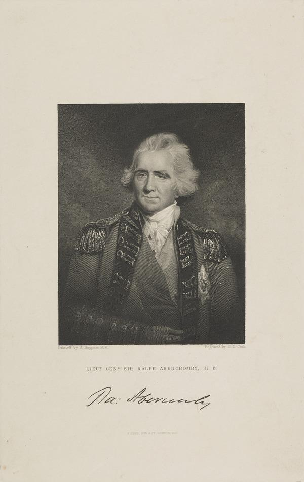 Sir Ralph Abercromby, 1734 - 1801. General (Published 1847)