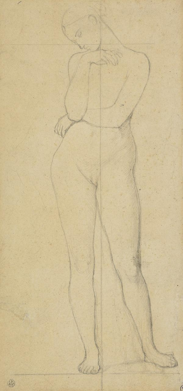 Nude Figure of Stratonice, One of Two Studies