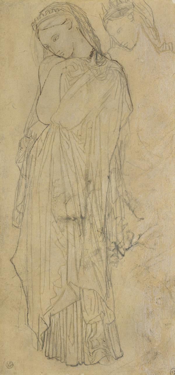 Clothed figure of Stratonice, One of Two Studies