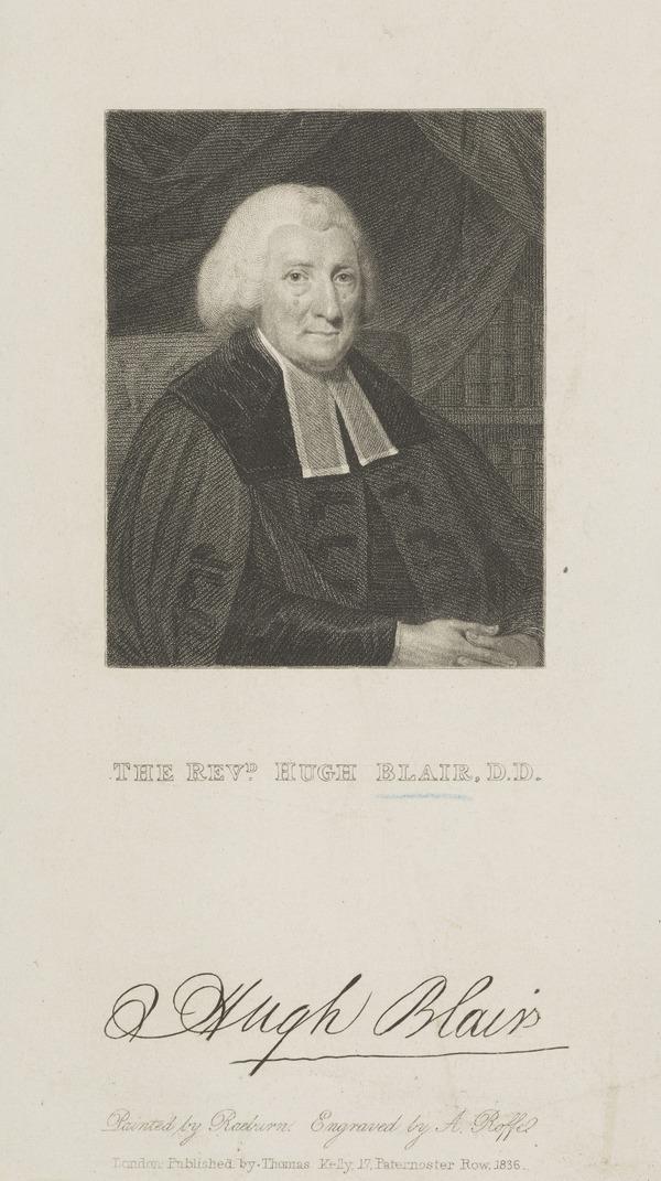 Hugh Blair, 1718 - 1800. Divine and author (1836)