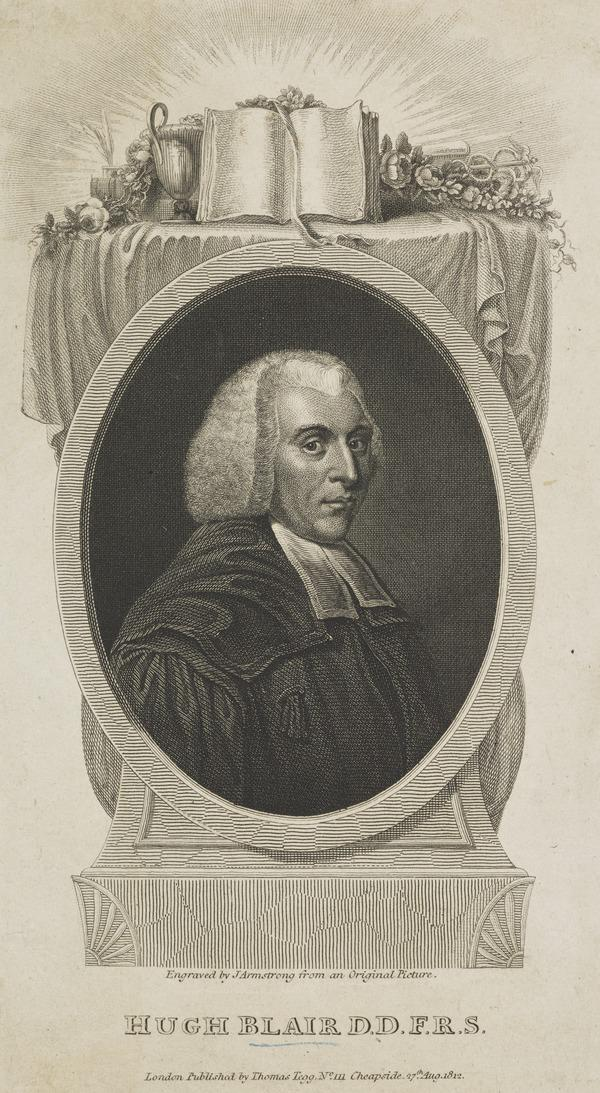 Hugh Blair, 1718 - 1800. Divine and author (Published 1812)