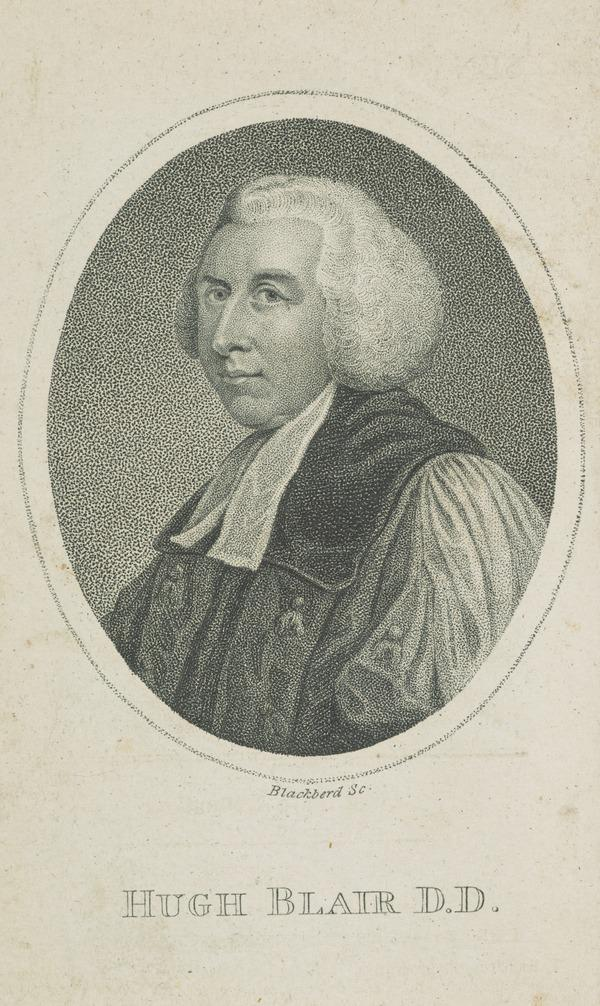 Hugh Blair, 1718 - 1800. Divine and author