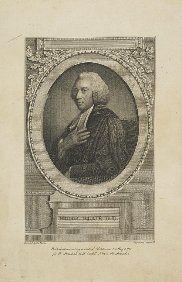 Hugh Blair, 1718 - 1800. Divine and author (Published 1783)