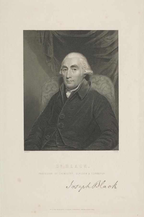 Professor Joseph Black, 1728 - 1799. Chemist