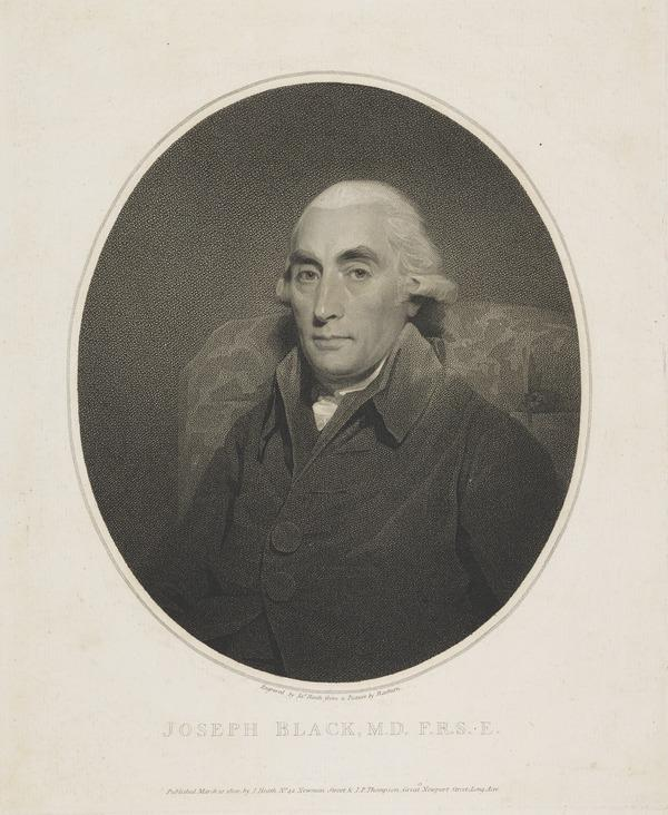 Professor Joseph Black, 1728 - 1799. Chemist (1800)