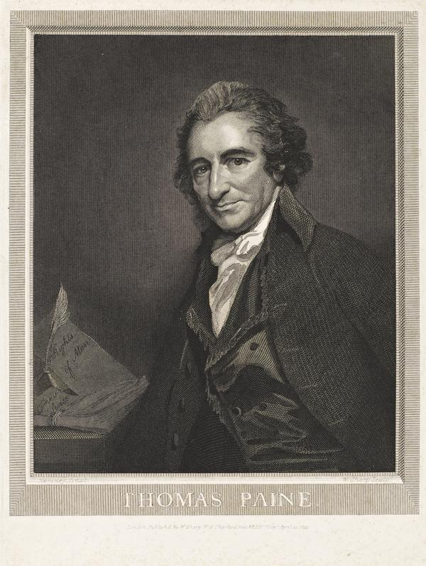 Thomas Paine, 1737 - 1809. Republican; author of 'Rights of Man' (1793)