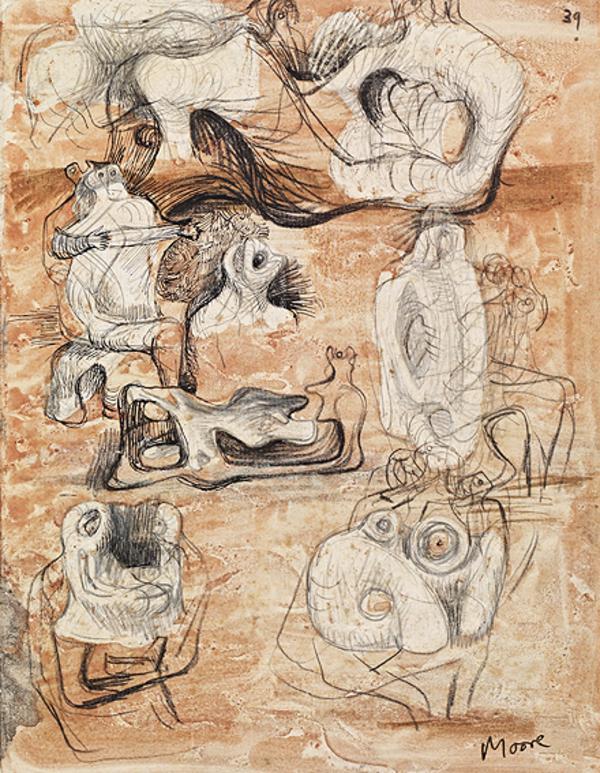 Studies for Sculpture [verso: Studies for Sculpture] (About 1939 - 1942)