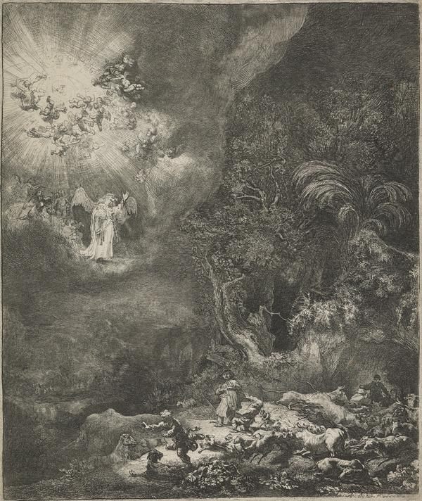 The Angel Appearing to the Shepherds (Dated 1634)