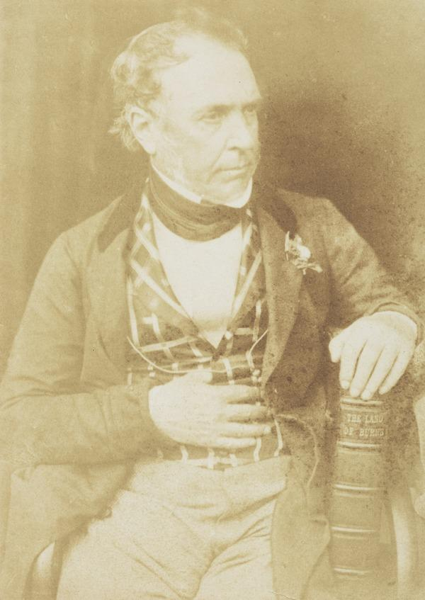 Colonel James Glencairn Burns, 1794 - 1865. Youngest son of Robert Burns the poet [d] (1844 or after)
