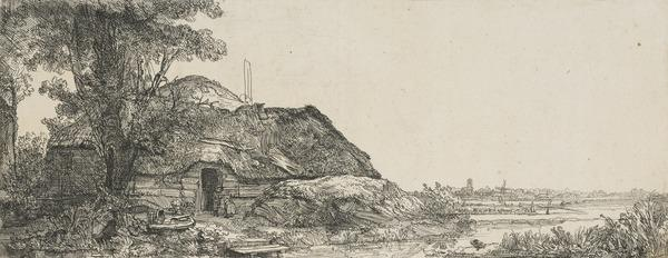 Landscape with a Cottage and a Large Tree (Bartsch no. 226. Only State) (Dated 1641)