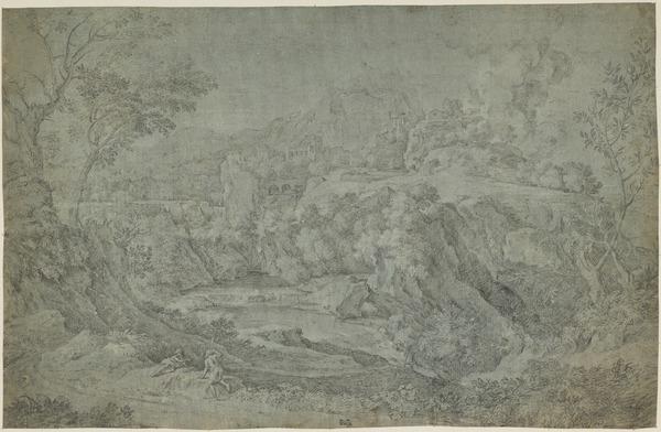 Landscape at Tivoli with a Burning Castle