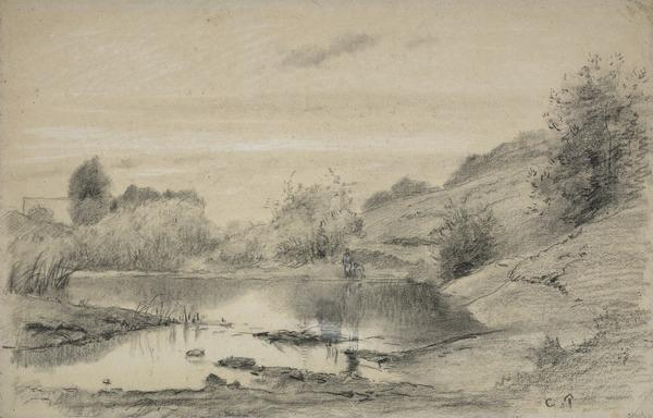 Figures at the Banks of the Marne, near Chennevières, in the Region of the Varenne-Saint-Maur (About 1863 - 1864)