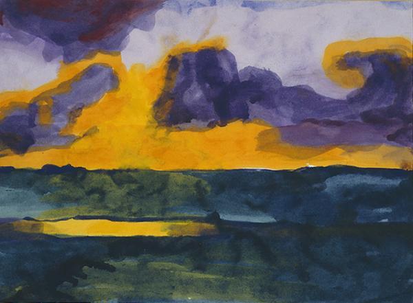 Abendhimmel uberm Gotteskoog [Sunset over Gotteskoog]