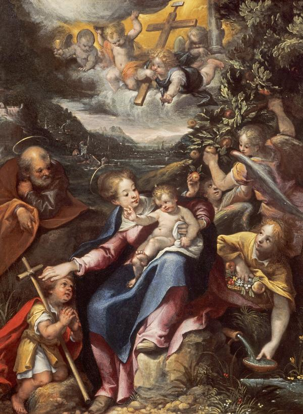 The Holy Family with the Infant Saint John the Baptist in a Landscape (About 1590 - 1600)