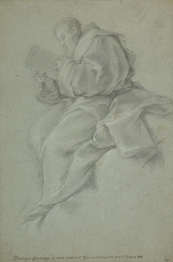 A Reading Monk, Seated on a Cloud