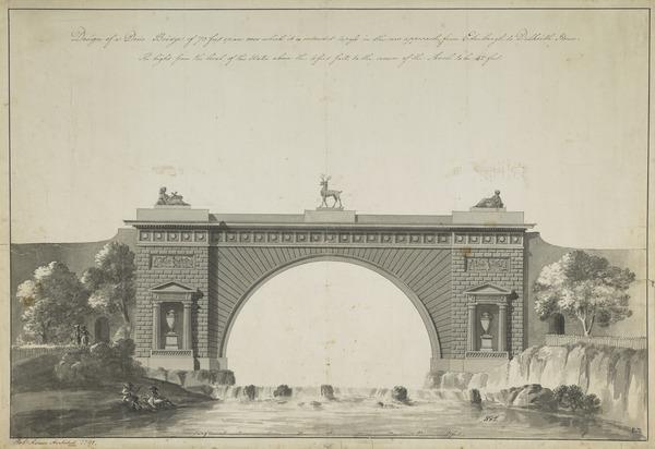 Design for a Doric Bridge (Montague Bridge, Dalkeith House, Midlothian)