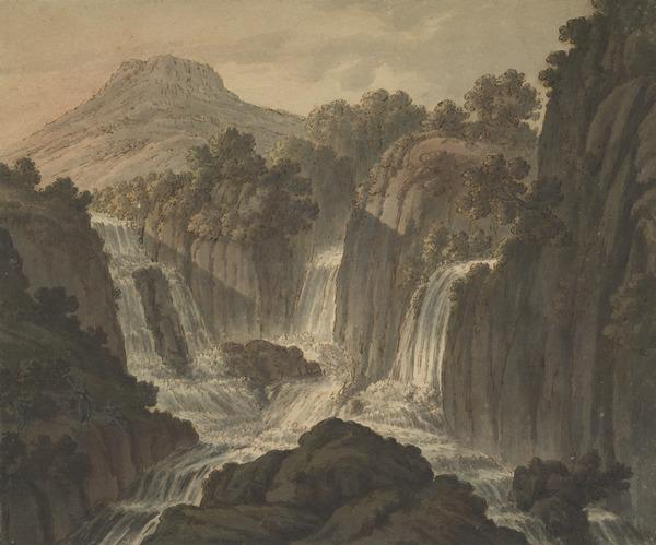 Mountainous Landscape with Three Cascades (About 1780)