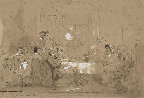 Study for the Painting 'Sir Walter Scott and his Literary Friends at Abbotsford'