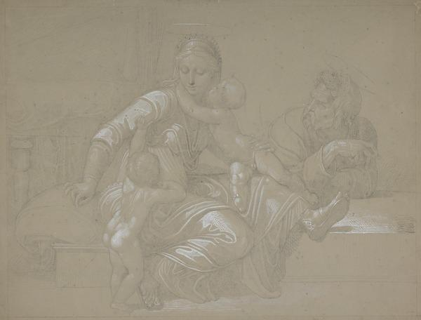 The Holy Family with the Infant Saint John (About 1848)