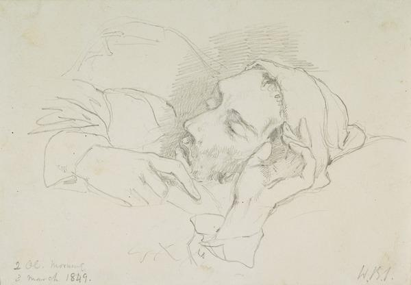 David Scott on his Deathbed (Dated 3 March 1849)
