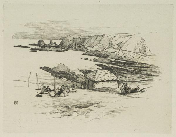A Highland Shoreline with Figures