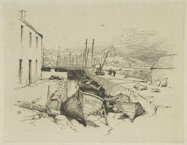 View of a Fishing Port (Banff ?)
