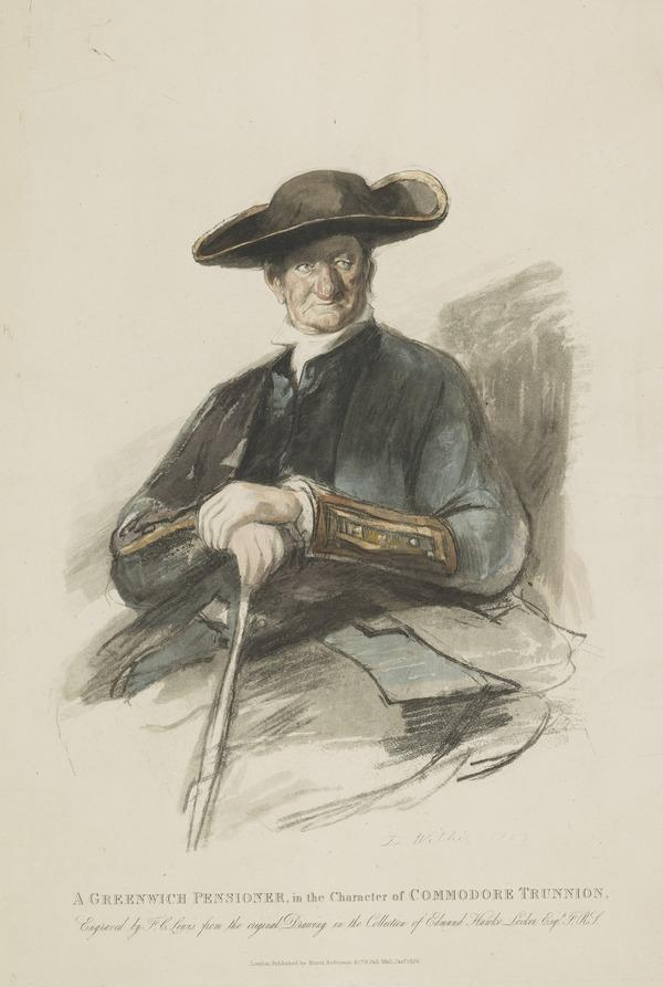 A Greenwich Pensioner in the Character of Commodore Trunnion