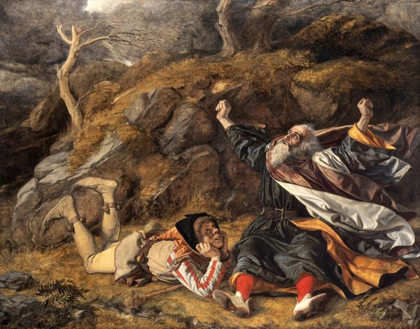 King Lear and the Fool in the Storm (About 1851)