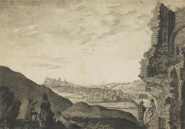 Edinburgh from St Anthony's Chapel (Dated 1799)