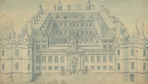 Holyrood Palace Showing the Quadrangle