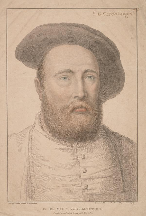 Sir George Carew (Carow), c 1504 - 1545. Commander of the Mary Rose (1795)