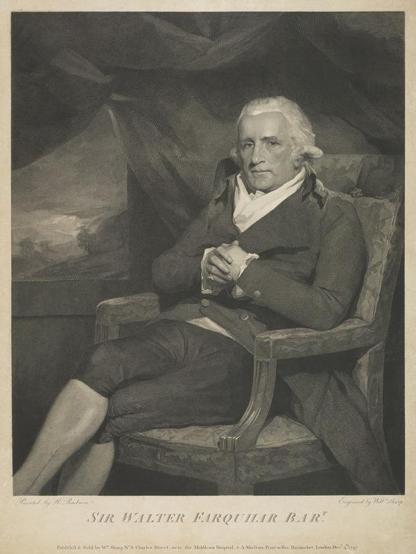 Sir Walter Farquhar, 1738 - 1819. Physician (1797)
