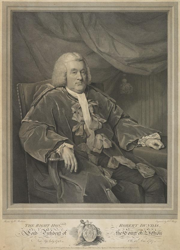 Lord Robert Dundas of Arniston, 1713 - 1787. Judge, Lord President of the Court of Session (1790)